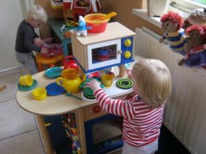Cato en Livia aan het spelen